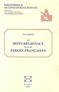 Les mots régionaux dans les farces françaises : Etude lexicologique sur le recueil Tissier (1450-1550) (1Cédérom)
