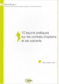 10 leçons pratiques sur les contrats d'options et les warrants