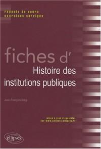 Fiches d'histoire des institutions politiques
