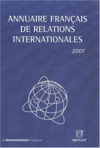 Annuaire français de relations internationales : Volume 8