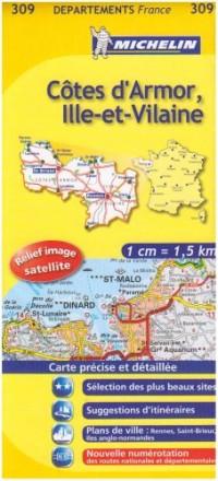 Carte DPARTEMENTS Ctes Armor, Ille-et-Vilaine