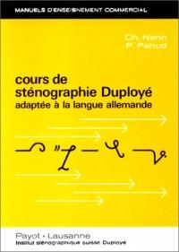 Cours de sténographie Duployé adaptée à la langue allemande