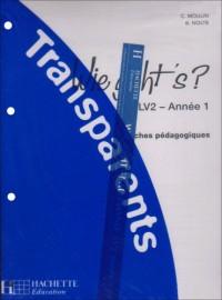 Allemand LV2 Année 1 Wie geht's ? : Transparents