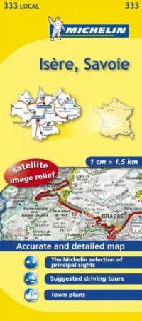 Michelin Map France: Isre, Savoie 333