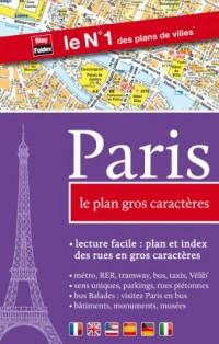 Paris, le plan gros caractères