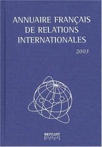 Annuaire français de relations internationales : Volume 4