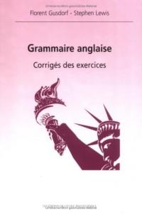 Grammaire anglaise- corrigés des exercices
