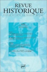 Revue historique 2003/2, numéro 626