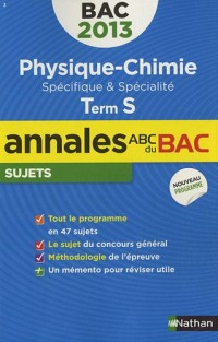 ANNALES BAC 2013 PHYS-CHIMIE S