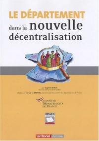 Le Département Dans la Nouvelle Décentralisation