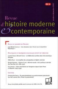Revue d'histoire moderne et contemporaine, N° 54-4 :