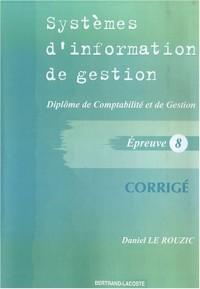 Système d'information de gestion DCG8 : Corrigé