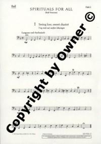 Spirituals for all Heft 1 - Negro-Spirituals - choeur mixte (SATB) avec combo (piano, guitare, basse) - Partie séparée Bass - ED 5926-12