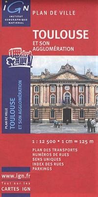 72358 Plan de Toulouse 1/12.500