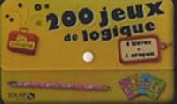 La valisette 200 jeux de logique : 4 livres + 1 crayon