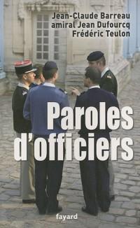 Paroles d'officiers