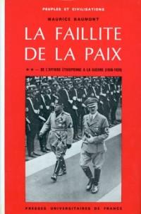 La faillite de la paix, 1936-1939