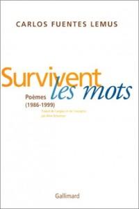Survivent les mots : Poèmes, 1986-1999