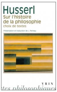 Sur l'histoire de la philosophie: choix de textes