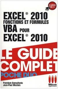 Excel 2010 Fonctions et formules & VBA pour Exel 2010