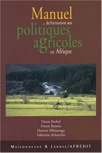 Manuel de formation pour les pratiques agricoles en Afrique francophone