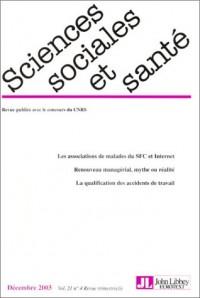 Revue sciences sociales et santé, volume 21, numéro 4