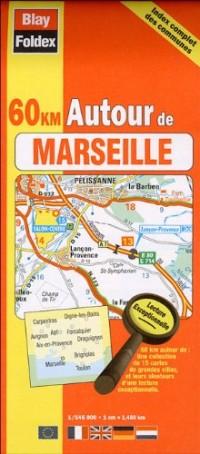 Marseille : Plan de poche avec localisation des stations de vélo (échelle 1/15 000)