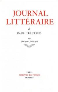 Journal Littéraire, tome VII : Juin 1928 - Juillet 1929