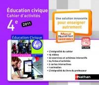 Cle Usb Cahier Educ.Civ. 4e Mne Tna