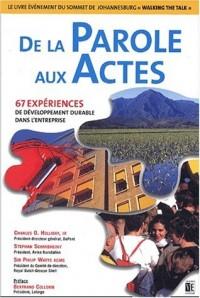 De la parole aux actes : 67 expériences de développement durable dans l'entreprise