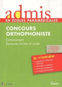 Admis - concours paramédical, orthophoniste, épreuves écrites et orale, entrainement