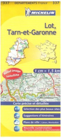 Carte DPARTEMENTS Lot, Tarn-et-Garonne
