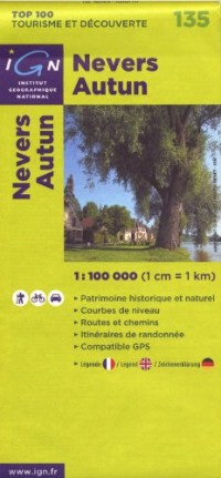 Nevers Autun : 1/100 000