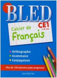 Cahier de français CE1 : 7/8 Ans