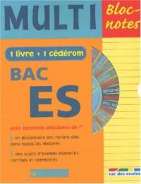 Multi Bloc-notes Bac ES (1 CD-Rom inclus)