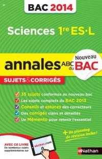 ANNALES BAC 2014 SCIENCES 1ERE