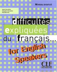 Difficultés expliquées du français for english speakers