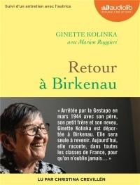 Retour à Birkenau: Livre audio 1 CD MP3 - Suivi d'un entretien avec Ginette Kolinka  width=