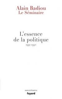 Le Séminaire - L'essence de la politique (1991-1992)  width=